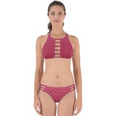 Watermelon Minimal Pattern Perfectly Cut Out Bikini Set