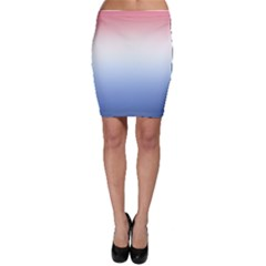 Red And Blue Bodycon Skirt