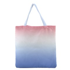 Red And Blue Grocery Tote Bag