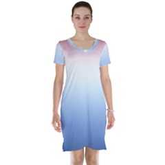 Red And Blue Short Sleeve Nightdress