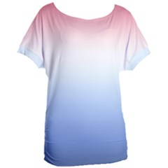 Red And Blue Women s Oversized Tee