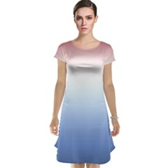Red And Blue Cap Sleeve Nightdress