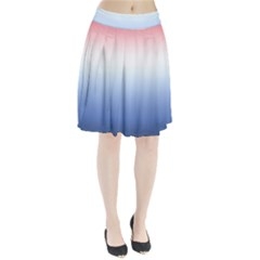 Red And Blue Pleated Skirt