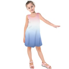 Red And Blue Kids  Sleeveless Dress