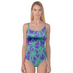 Electric Palm Tree Camisole Leotard