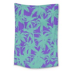 Electric Palm Tree Large Tapestry