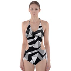 Polynoise Lowpoly Cut Out One Piece Swimsuit