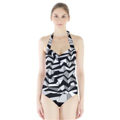 Polynoise Lowpoly Halter Swimsuit