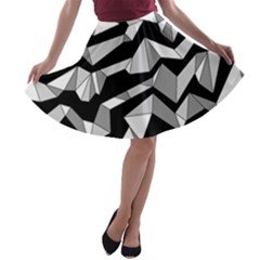 Polynoise Lowpoly A Line Skater Skirt