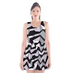 Polynoise Lowpoly Scoop Neck Skater Dress
