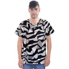 Polynoise Lowpoly Men s V Neck Scrub Top