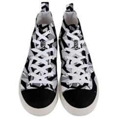 Polynoise Lowpoly Men s Mid Top Canvas Sneakers