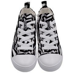 Polynoise Lowpoly Kid s Mid Top Canvas Sneakers