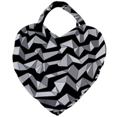Polynoise Lowpoly Giant Heart Shaped Tote