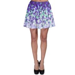 Purple Disintegrate Skater Skirt