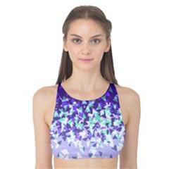 Purple Disintegrate Tank Bikini Top