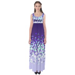 Purple Disintegrate Empire Waist Maxi Dress