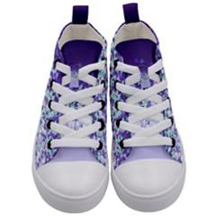 Purple Disintegrate Kid s Mid Top Canvas Sneakers
