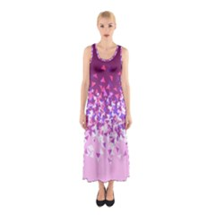 Pink Disintegrate Sleeveless Maxi Dress