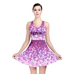 Pink Disintegrate Reversible Skater Dress