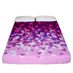 Pink Disintegrate Fitted Sheet (king Size)