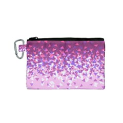 Pink Disintegrate Canvas Cosmetic Bag (small)
