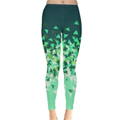 Green Disintegrate Leggings