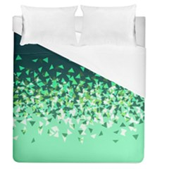 Green Disintegrate Duvet Cover (queen Size)