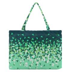 Green Disintegrate Zipper Medium Tote Bag