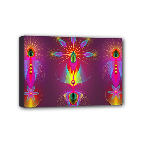 Abstract Bright Colorful Background Mini Canvas 6  X 4