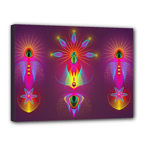 Abstract Bright Colorful Background Canvas 16  X 12