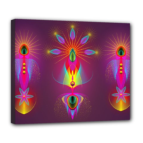 Abstract Bright Colorful Background Deluxe Canvas 24  X 20