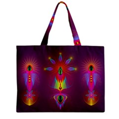 Abstract Bright Colorful Background Zipper Mini Tote Bag