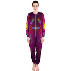 Abstract Bright Colorful Background Onepiece Jumpsuit (ladies)