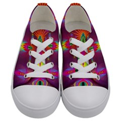 Abstract Bright Colorful Background Kids  Low Top Canvas Sneakers
