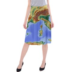Italy Alpine Alpine Region Map Midi Beach Skirt
