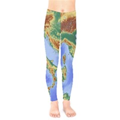 Italy Alpine Alpine Region Map Kids  Legging