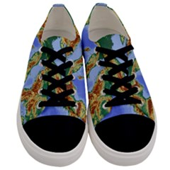 Italy Alpine Alpine Region Map Men s Low Top Canvas Sneakers
