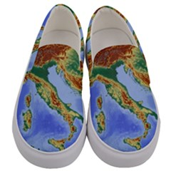Italy Alpine Alpine Region Map Men s Canvas Slip Ons