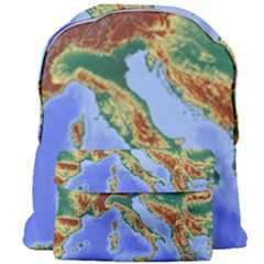 Italy Alpine Alpine Region Map Giant Full Print Backpack