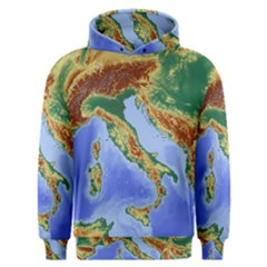 Italy Alpine Alpine Region Map Men s Overhead Hoodie