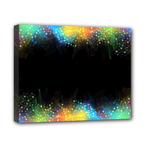 Frame Border Feathery Blurs Design Canvas 10  X 8