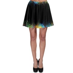 Frame Border Feathery Blurs Design Skater Skirt