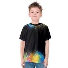 Frame Border Feathery Blurs Design Kids  Cotton Tee