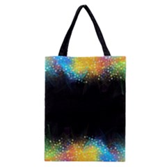Frame Border Feathery Blurs Design Classic Tote Bag