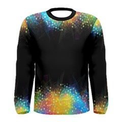 Frame Border Feathery Blurs Design Men s Long Sleeve Tee