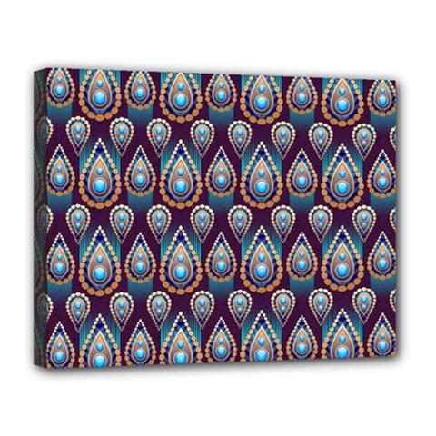 Seamless Pattern Pattern Canvas 14  X 11