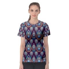 Seamless Pattern Pattern Women s Sport Mesh Tee