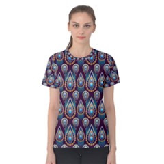 Seamless Pattern Pattern Women s Cotton Tee