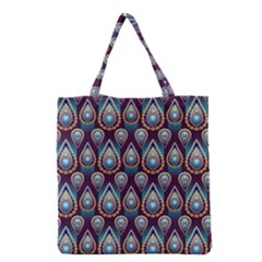 Seamless Pattern Pattern Grocery Tote Bag